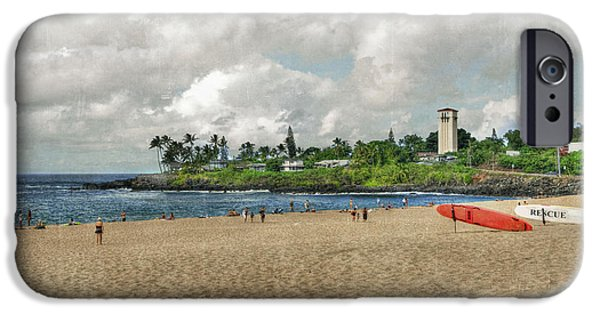 Board iPhone Cases - Waimea Beach Park in Hawaii iPhone Case by Juli Scalzi