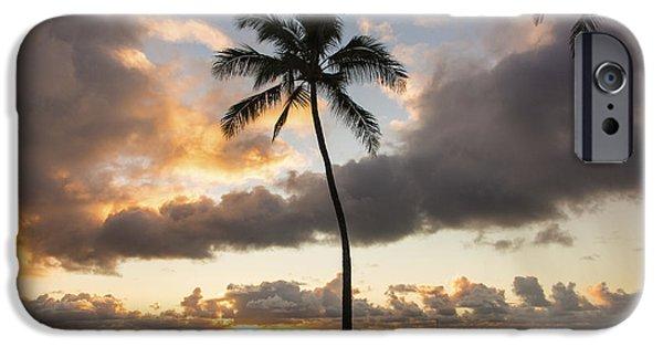 Tidal Photographs iPhone Cases - Waimea Beach Sunset - Oahu Hawaii iPhone Case by Brian Harig