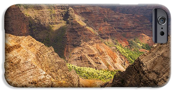 Grand Canyon iPhone Cases - Waimea Canyon 4 iPhone Case by Brian Harig