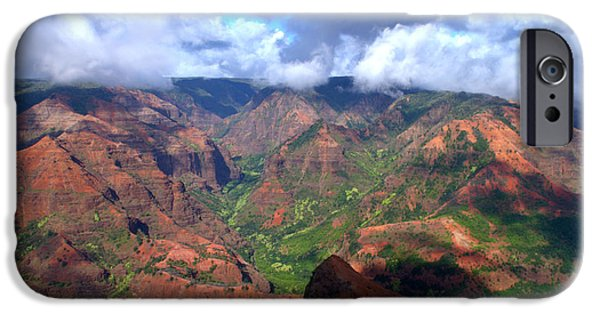 Grand Canyon iPhone Cases - Waimea Canyon iPhone Case by Brian Harig