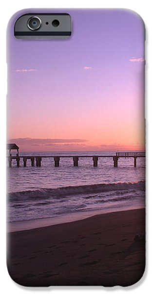 Waimea Pier Sunset iPhone Case by Brian Harig