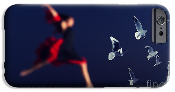 Seagull iPhone Cases - Wait For Me iPhone Case by Stylianos Kleanthous