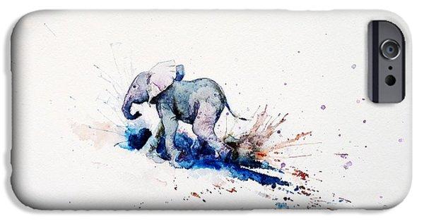 Elephant iPhone Cases - Wait for Me iPhone Case by Zaira Dzhaubaeva