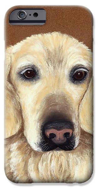 Puppy Pastels iPhone Cases - Waiting iPhone Case by Anastasiya Malakhova