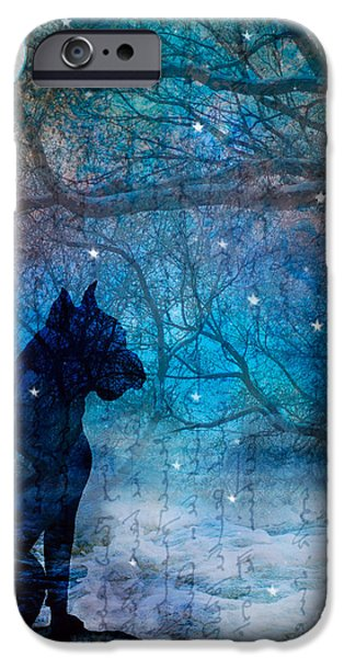 Waiting by the Night River iPhone Case by Judy Wood