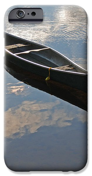 Boats At The Dock iPhone Cases - Waiting Canoe iPhone Case by Renee Forth-Fukumoto