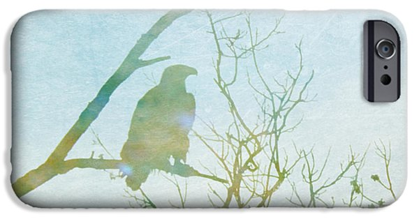 Drawing Of Eagle iPhone Cases - Waiting Eagle iPhone Case by Nomad Art And  Design