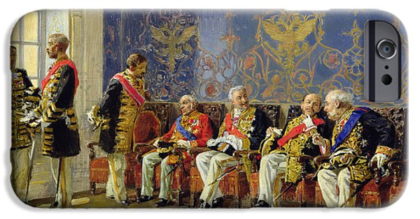 Statesmen iPhone Cases - Waiting for an Audience iPhone Case by Vladimir Egorovic Makovsky