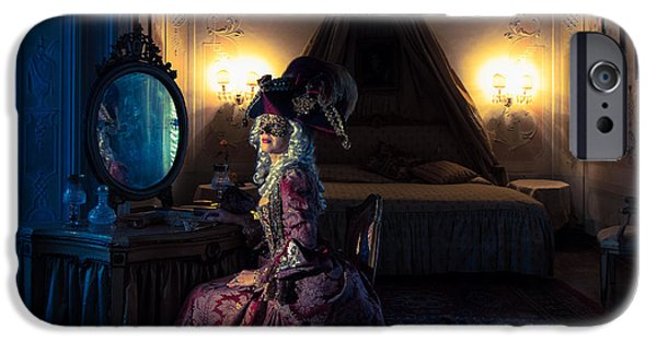 Duchess iPhone Cases - Waiting for Casanova iPhone Case by Zina Zinchik