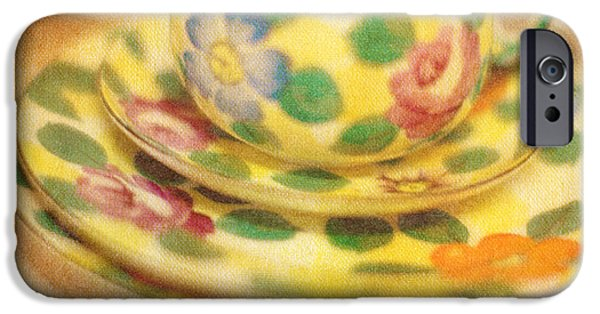 Tea Cup iPhone Cases - Waiting for Tea iPhone Case by Rebecca Cozart