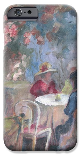 Tea Party iPhone Cases - Waiting for Tea iPhone Case by Susan Richardson