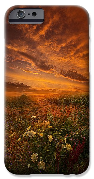Silos iPhone Cases - Waiting for the Day to Begin iPhone Case by Phil Koch