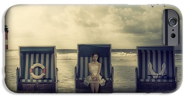 Beach Landscape iPhone Cases - Waiting For The Flood iPhone Case by Joana Kruse