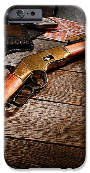 Waiting for the Gunfight iPhone Case by Olivier Le Queinec