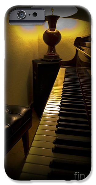 Piano iPhone Cases - Waiting For The Music iPhone Case by Al Bourassa