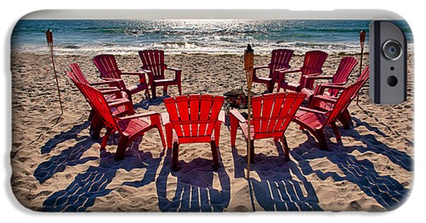 Lawn Chair iPhone Cases - Waiting for the Party iPhone Case by Peter Tellone