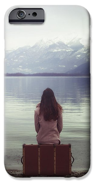 Wintery iPhone Cases - Waiting For You iPhone Case by Joana Kruse
