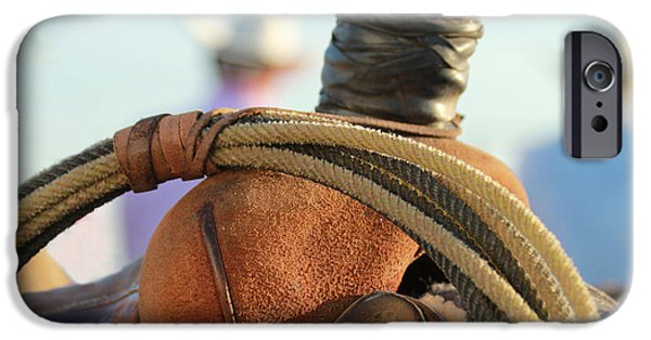 Roping Horse iPhone Cases - Waiting Game iPhone Case by Steven Bateson
