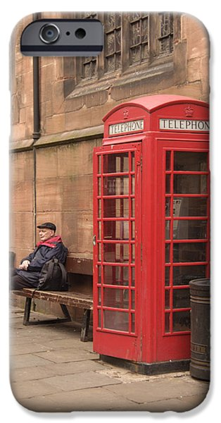 Telephone iPhone Cases - Waiting on a Call iPhone Case by Mike McGlothlen