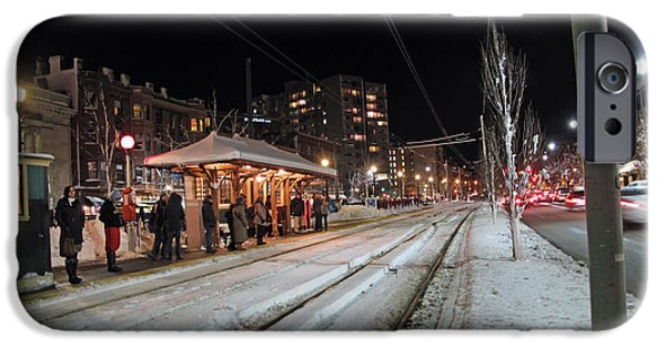 City. Boston iPhone Cases - Waiting to go Home iPhone Case by Barbara McDevitt