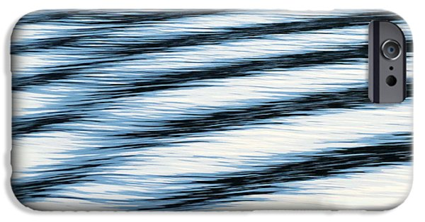 Abstract Seascape iPhone Cases - Wake iPhone Case by Ramona Johnston