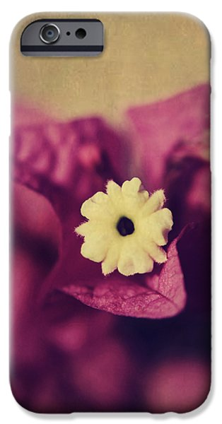 Texture Flower iPhone Cases - Waking Up Happy iPhone Case by Laurie Search