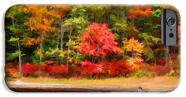 Walden Pond iPhone Cases - Walden Pond - Contemplation iPhone Case by Tom Christiano
