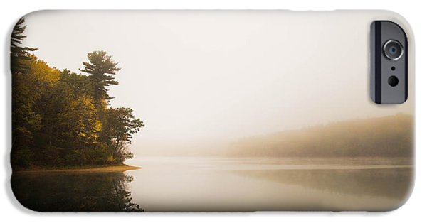 Walden Pond iPhone Cases - Walden Pond October Morning iPhone Case by Patrick Campagnone