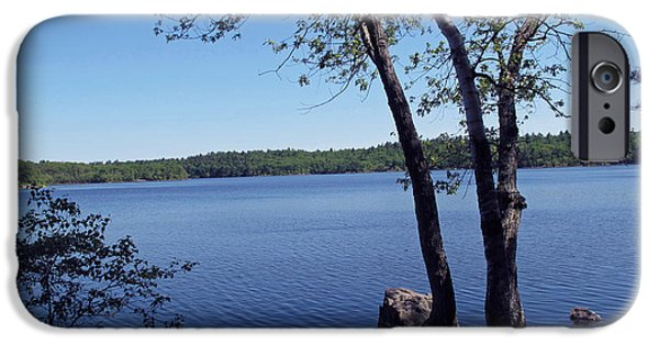 Walden Pond iPhone Cases - Walden Pond Saugus MA iPhone Case by Barbara McDevitt