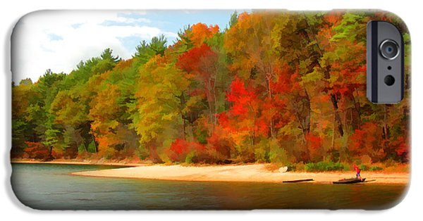 Walden Pond iPhone Cases - Walden Pond - Solitude iPhone Case by Tom Christiano