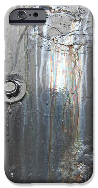 Oil Slick iPhone Cases - Wales Cardiff Detail Three iPhone Case by Coventry Wildeheart
