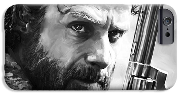 Lincoln Digital Art iPhone Cases - Waling Dead - Rick Grimes iPhone Case by Paul Tagliamonte