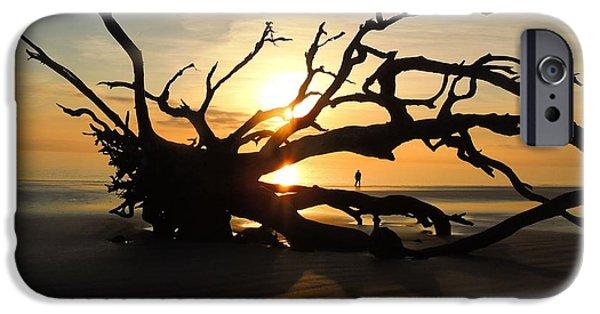 Beach Landscape iPhone Cases - Walkin on Sunshine iPhone Case by Laura Ragland