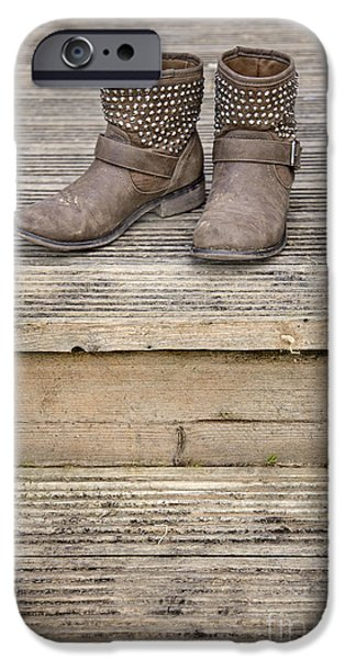 Boots iPhone Cases - Walk A Mile In My Shoes iPhone Case by Evelina Kremsdorf
