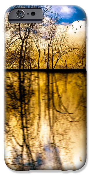 Walk Along The River iPhone Case by Bob Orsillo