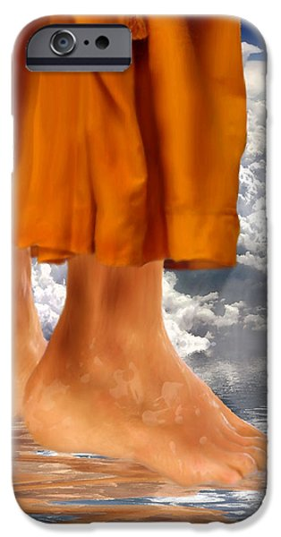 Jesus Walking On Water iPhone Cases - Walk by Faith iPhone Case by Jennifer Page