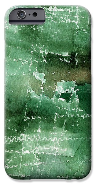 Abstracted iPhone Cases - Walk In The Park iPhone Case by Linda Woods