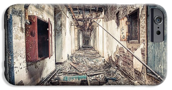 Psychiatric iPhone Cases - Walk of Death - Abandoned Asylum iPhone Case by Gary Heller