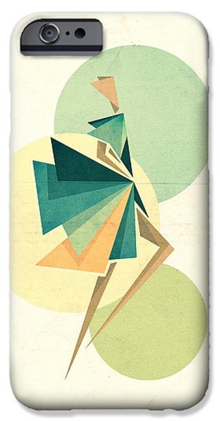 Abstract Digital iPhone Cases - Walk the walk iPhone Case by VessDSign