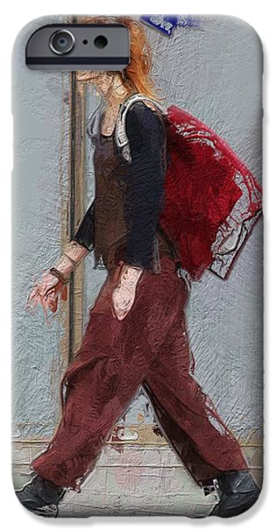 Young Mixed Media iPhone Cases - Walk this way iPhone Case by Stefan Kuhn