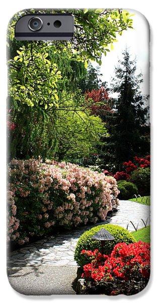 Garden iPhone Cases - Walk through Spring Garden iPhone Case by Carol Groenen