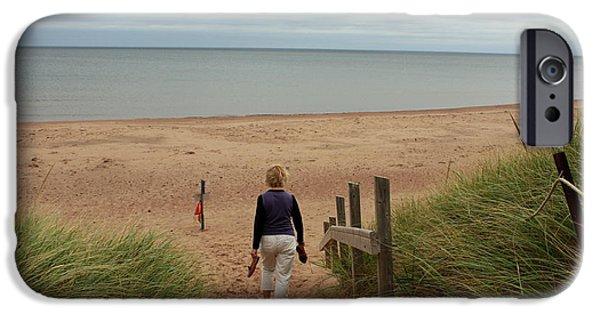 North Rustico iPhone Cases - Walk to the Beach iPhone Case by Ron Pringle