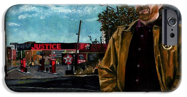 Gas Paintings iPhone Cases - Walker Texaco Ranger - Lethal Justice iPhone Case by Thomas Weeks