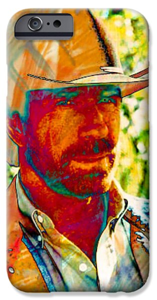 Michael Mixed Media iPhone Cases - Walker Texas Ranger iPhone Case by M and L Creations