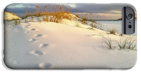 Florida Panhandle iPhone Cases - Walking in Destin iPhone Case by JC Findley