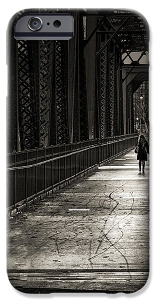Walking In The Rain iPhone Case by Bob Orsillo