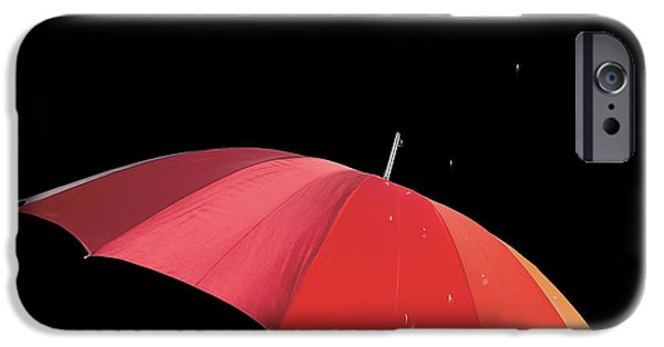 Macro Mixed Media iPhone Cases - Walking in the Rain iPhone Case by Cheryl Young