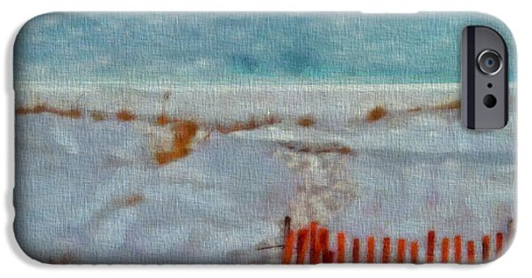Lighthouse Mixed Media iPhone Cases - Walking On The Beach iPhone Case by Dan Sproul