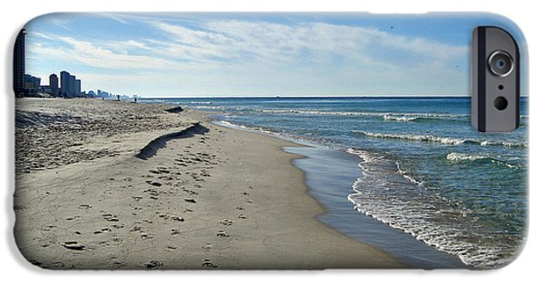 Panama City Beach Photographs iPhone Cases - Walking the Beach iPhone Case by Sandy Keeton