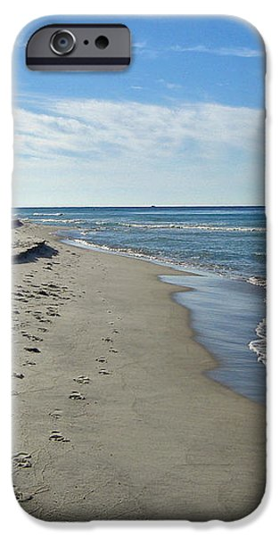 Walking the Beach iPhone Case by Sandy Keeton